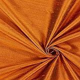 Unbekannt Dupionseide Schimmer – orange — Meterware ab
