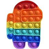 C&X Pop It Among Us - Bubble Fidget Toy - Gioco Antistress Rilassante per Adulti e Bambini (Arcobaleno)