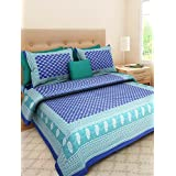 Vihaan Fab India Double Bedsheet Pure Cotton Rajasthani Print/Jaipuri Printed With 2 Pillow Covers,Size-(90 X 108 Inch) |Multicolor