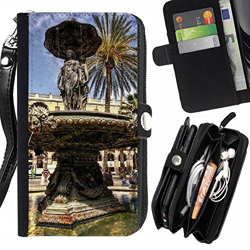 FJCases Barcelona España Postal Vista Carcasa Funda Monedero Con Correa y Cremallera Carcasa Funda para Motorola Moto Z Play