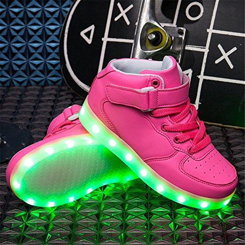 Led Chaussure Lumineuse - Enfant Gar?on Fille - USB Rechargeable - DoGeek Rose