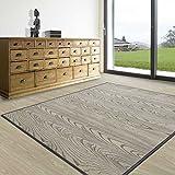 Tapis de salon gris blanc casa pura® 100% bambou naturel   chambre, corridor, cuisine   hypoallergénique, 120x180cm