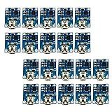 Dolity 20x Módulo de Carga de Batería de Litio MICRO USB Corriente de Carga 1A (ajustable)