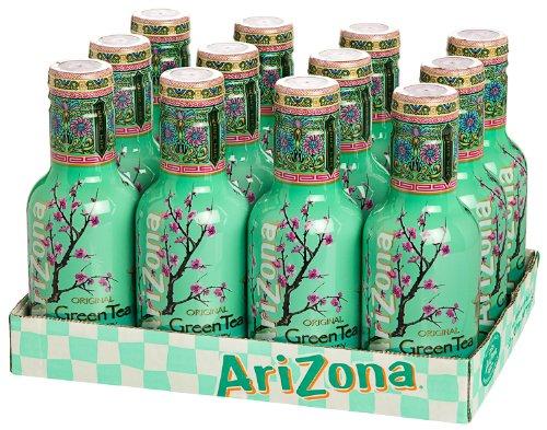 12 Flaschen Arizona Green Tea a 500ml PET inc. 3.00€ EINWEG Pfand