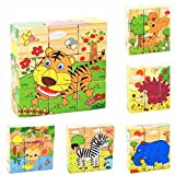#10: Wishkey Wooden Cube Animal Character Block Puzzle for Kids