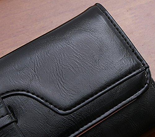 CLOTHES- Portafoglio Lady Long Retro Tri Pieghe a grande capacità Multi-Card Bit Semplice Harajuku Personality Student Wallet ( Colore : Verde ) Nero