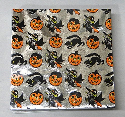 Halloween Print 4 x 4 Confectionery Foil Wrappers Candy Wrappers Candy Making Supplies by Foil Wrappers (Candy Halloween Wrapper Für)