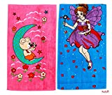 #6: Mandhania Cotton Cartoon Printed Kids Bath Towels for Boys N Girls Pack of 2