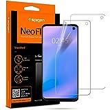 Spigen, 2 Pièces, Protection écran Samsung Galaxy S10, NeoFlex, Compatible avec capteur à Ultrason, Couverture maximale, TPU Film, Liquid Installation, Film Protection ecran S10