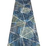 QiangDa Flur Teppich Läufer Langflor Teppiche Lang 3D Gang Polypropylen Sanfte Berührung Vliesboden Anti-Rutsch Verschleißfest Mehrdimensional, Dicke 6 mm (Farbe : 2#, Größe : 1.4m x 3m)