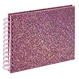 Spiralalbum Glam, 24 x 17 cm, 50 weiße Seiten, rosa