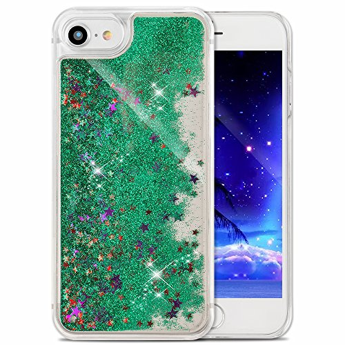 iPhone 7 Coque Clear,iPhone 7 Coque Transparente,iPhone 7 Plastique Etui Transparent Diamant Housse Coque Hard Case Cover,EMAXELERS iPhone 7 Dual Layer Plastic Liquide Coque Bling Etui Plastic Case Co Star 5