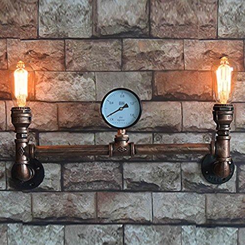 Water Pipe Wandleuchter Sun Run Metall 2 Kopf Vintage Industrial