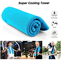 Cooling Towel Suntop Quick Dry Fitness Ice Towel for Instant Relief,Use as Cooling Neck Headband Bandana Scarf Stay Cool for Pilates Travel Camping Golf Hiking & Outdoor Sports