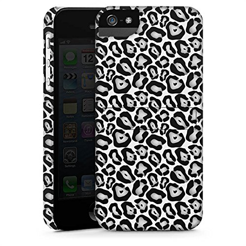 Apple iPhone X Silikon Hülle Case Schutzhülle Tiere Graues Leo Fell Look Black and White Premium Case StandUp