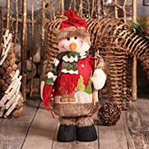 FindaGift Muñecas de decoración navideña, Monigote de Nieve Figura Permanente Decoración de Navidad Ornamento Juguete