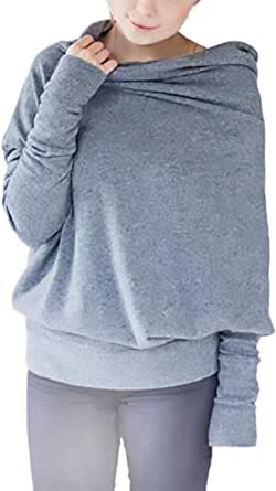 Damen Runder Kragen Buchstaben Aufdruck Pullover Long-Sleeves Oberteile # Cz