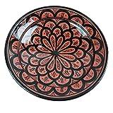 Simandra Orientalischer Keramik Teller handbemalt marokkanische Keramikschüssel Wandteller mittel Color Rot