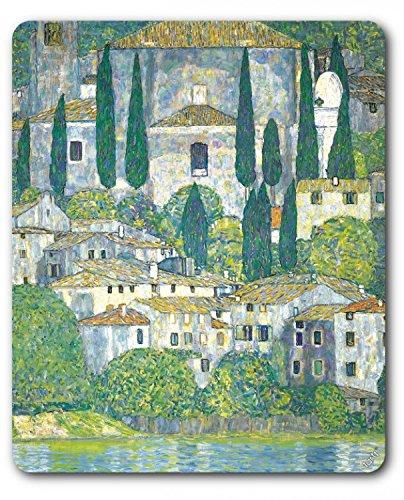 Preisvergleich Produktbild 1art1 89668 Gustav Klimt - Kirche In Cassone Am Gardasee, 1913 Mauspad 23 x 19 cm