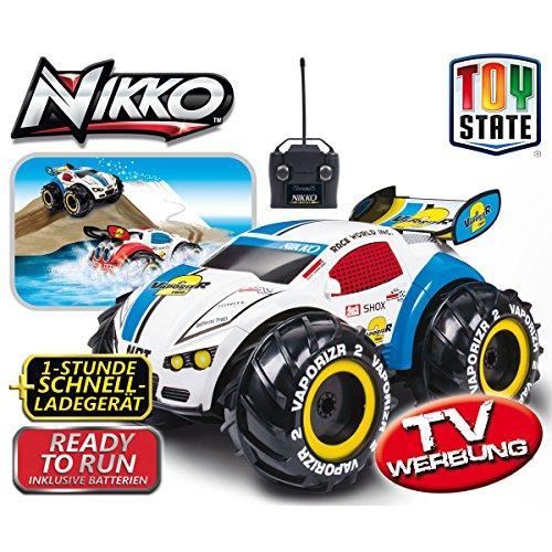 Preisvergleich Produktbild Nikko RC-Auto VaporizeR 2, bis 15 km/h, föhrt auf Land, Wasser und Schnee, blau: 4x4 Elektro Spielzeug Stunt Auto RC ferngesteuertes Fahrzeug