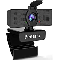 Beneno 1080P Business Webcam mit Mikrofon und Datenschutzabdeckung USB HD-Kamera, 110-Grad-Weitwinkel, Plug & Play…