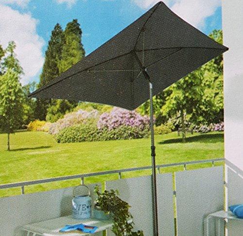 Sonnenschirm 210x140 Gartenschirm Terrassenschirm UV Schutz anthrazit GARDENLINE