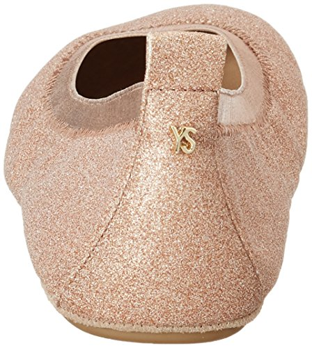 Yosi Samra Damen Samara Glitter Flat W Geschlossene Ballerinas Pink (Rosegold)