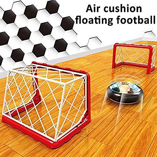 RXYYOS Air Fußball Soccer Sport Spiele mit LED Beleuchtung mit 2 Fußballtor Outdoor Indoor Hover Ballspiel Air Power super Hover Ball Set für Kinder -