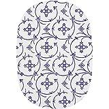 Unbekannt Ricolor Brettchen in indischblau/weiß oval, Melamin, Blau, 24 x 17 x 1 cm,