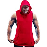 COOFANDY Men's Workout Vest Hooded Gym Bodybuilding Fitness Tank Top Training Muscle Cut Activewear Sleeveless Tops with…