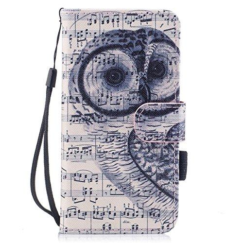 inShang Custodia per iPhone X 5.8 inch con design integrato Portafoglio, iPhoneX 5.8inch case cover con funzione di supporto. Note owl