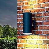 XL Up Down Wand-Außenleuchte Hamburg in anthrazit 107mm Durchmesser 2x E27 230V Wandlampe für die Hauswand