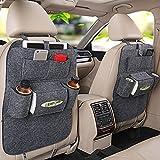 Haosen 2 Stück Multifunktionssitzauto Rückentasche des Autositzes mit mehreren taschen Auto-Aufbewahrungsbeutel Autositze Zubehör - Geeignet für 99% der Fahrzeugmodelle (Grau)