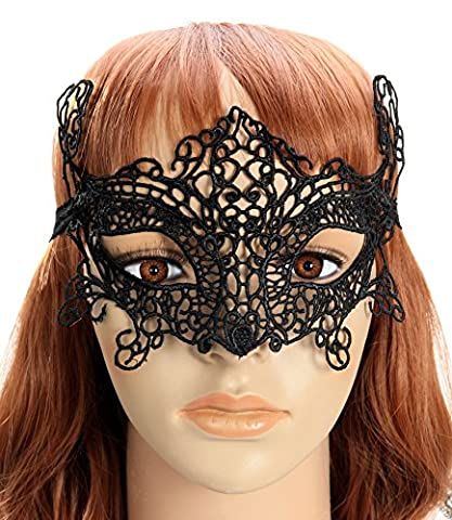 Costumes Black Cheerleader Halloween - starepe Femme Noir Dentelle Mascarade Bal Masqué