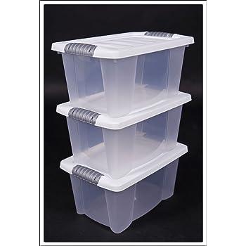 5x klarsichtbox mit deckel 20 x 15 x 9 cm 5er set stapelbare boxen. Black Bedroom Furniture Sets. Home Design Ideas