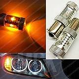 Freccia con lampadina LED PY21W Canbus Cree, ambra arancione, anteriore e posteriore BAU15S EA6L2