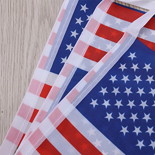 Tinksky American Flag 32  Flag National Flag of Patriotic USA Flag Bunting Banner Garland for Supermarket Bar Sports Club Event Party Decoration