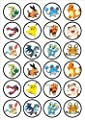 Pokemon Edible PREMIUM THICKNESS SWEETENED VANILLA,Wafer Rice Paper Cupcake Toppers/Decorations por Cian's Cupcake Toppers Ltd