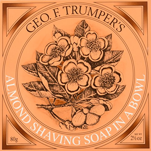 Geo F Trumper Wooden Shaving Bowl & Almond Shaving Soap