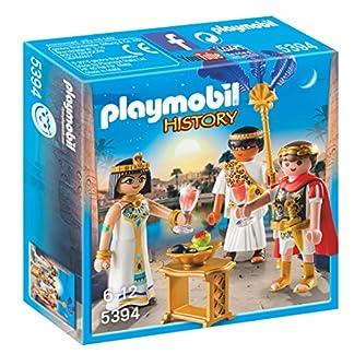 Playmobil Romanos y Egipcios – César y Cleopatra, Playset de Figuras de Juguete, Multicolor (Playmobil, 5394)