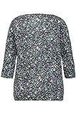 GINA LAURA Damen bis XXL | Blusen-Shirt | Geblümt | 3/4-Arm | Relaxed | Elastischer Saum | apfelgrün XL 716359 41-XL
