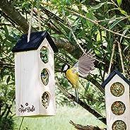Complete set van 2 stuks Vogel-Buffet Chalet 3 - vogelvoedelhuisje (FSC) voor Koolmezen en Mussen