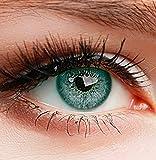 """Farbige Kontaktlinsen 3 Monatslinsen hellblau türkis """"Turquoise"""" gute Deckkraft ohne Stärke mit Aufbewahrungsbehälter"""