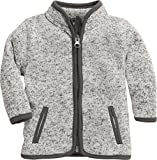Schnizler Unisex Baby Strickfleece-Jacke mit Kontrastnähten, Oeko-Tex Standard 100 Grau (Grau 33), 74