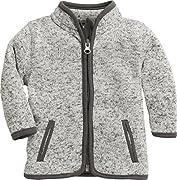 Schnizler Unisex Baby-Jacke aus Fleece, atmungsaktives und hochwertiges Jäckchen mit Reißverschluss, Grau (Grau 33), 62