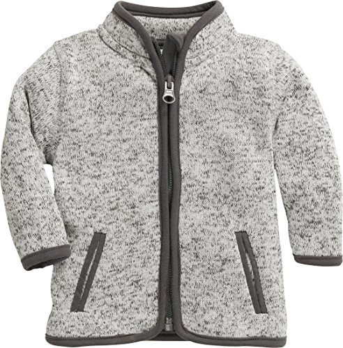 Schnizler Unisex Baby Strickfleece-Jacke mit Kontrastnähten, Oeko-Tex Standard 100, Grau (Grau 33), 68