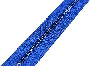 von kissenwelt Reißverschluss, Meterware Endlosreißverschluss 5 mm, Dunkel Blau +1 Schieber, Zipper Pro Farbe
