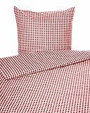 Landhaus Bettwäsche in rotem Karo 1x1 cm mit Hotelverschluss (Kissenbezug 40x80)