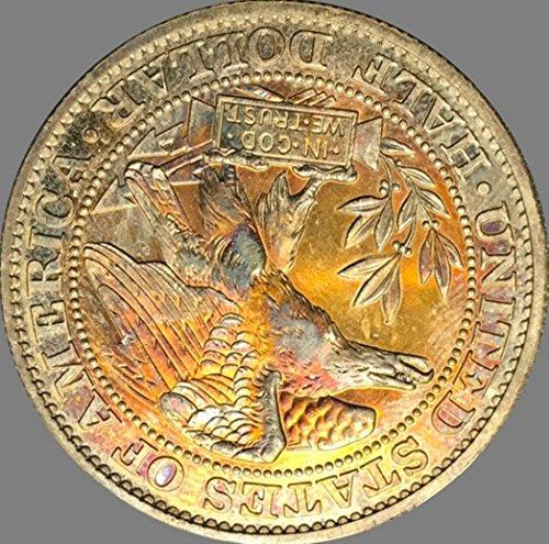 Bespoke Souvenirs Rare Antique USA United States 1877 Morgan Half Dollar Silver Color Coin Seltene Munze -
