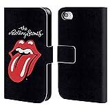 Head Case Designs Offizielle The Rolling Stones Klassische Zunge Kunst Brieftasche Handyhülle aus Leder für Apple iPhone 4 / 4S